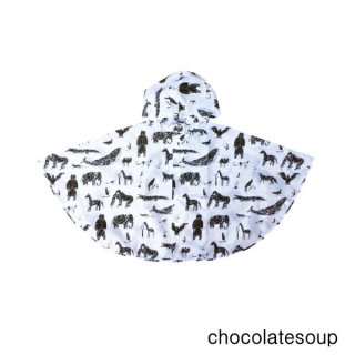 【chocolatesoup チョコレートスープ】GEOMETRY RAINPONCHO ANIMAL 90cm