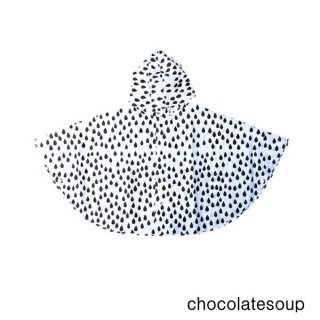 【chocolatesoup チョコレートスープ】GEOMETRY RAINPONCHO DROP 90cm