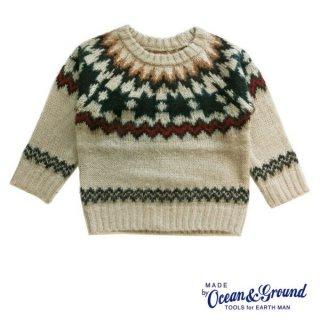 【OCEAN&GROUND/オーシャンアンドグラウンド】NORDIC SWEATER ノルディックセーター 100 110 120 130 140