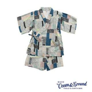 《OCEAN&GROUND/オーシャンアンド》グラウンド キッズ 甚平スーツ 90 100 110 120 130