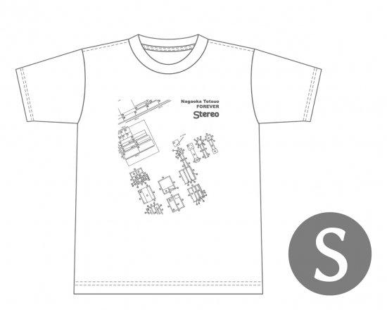 長岡鉄男ファンに捧げるオリジナルTシャツ (ホワイト) — 長岡鉄男のスワン設計図  【Sサイズ】