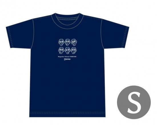長岡鉄男ファンに捧げるオリジナルTシャツ (ネイビー) — Nagaoka Tetsuo FOREVER 【Sサイズ】