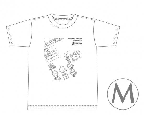 長岡鉄男ファンに捧げるオリジナルTシャツ (ホワイト) — 長岡鉄男のスワン設計図  【Mサイズ】