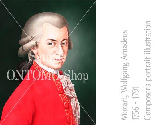 イラストデータ作曲家の肖像画イラスト作曲家の肖像画イラスト