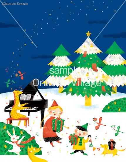 <img class='new_mark_img1' src='https://img.shop-pro.jp/img/new/icons14.gif' style='border:none;display:inline;margin:0px;padding:0px;width:auto;' />音楽イラスト素材 〜 森のクリスマスパーティー