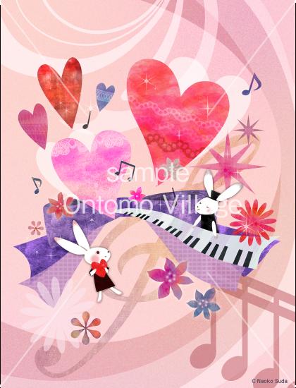 <img class='new_mark_img1' src='https://img.shop-pro.jp/img/new/icons14.gif' style='border:none;display:inline;margin:0px;padding:0px;width:auto;' />音楽イラスト素材 〜 Happy Valentine