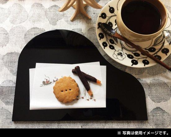 福西惣兵衛商店謹製 会津塗のピアノプレート(黒)