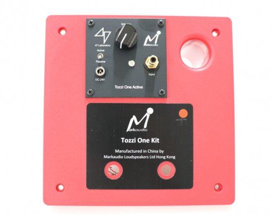 「Tozzi One Kit」交換用リアバッフル(四十七研究所製アンプ搭載)【レッド(赤)】