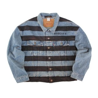Hand Dye Denim Trucker Jacket