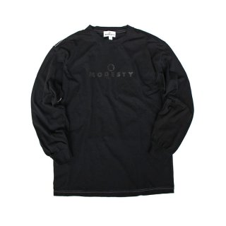 Over Dye Logo L/S Tee_Super Black