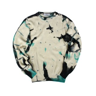 Hand Dye Cotton Rib Knit Sweater_Shibori