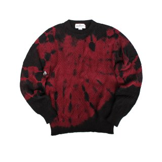 Hand Dye Cotton Crewneck Sweater_Shibori