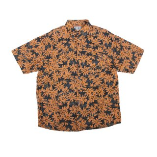 Over Dye Floral Pattern Rayon Shirt