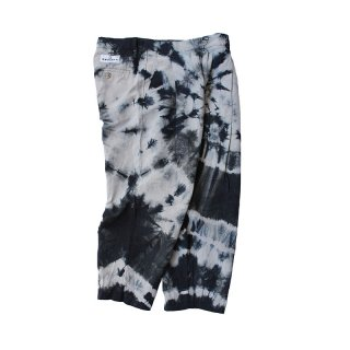 Hand Dye Custom made 1tuck Linen Trousers PT_Shibori