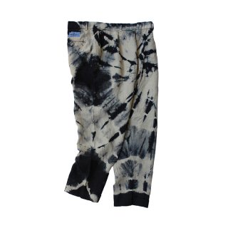Hand Dye Custom made 2tuck Linen Trousers PT_Shibori
