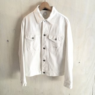 'stone island jeans' white denim jacket