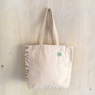 BG flocky printed tote bag