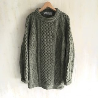 'vintage aran sweater' made in dublin-Ireland