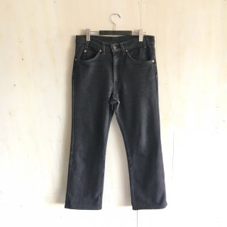 80's  levi's 517  black  stretch  made in USA