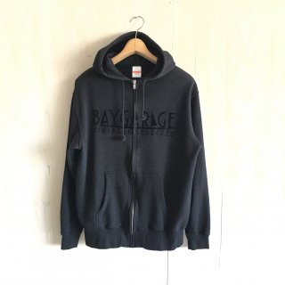 BG flocky printed zip up hoodie