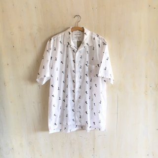 90's 'COMME des GARCONS SHIRT'  open collar shirt