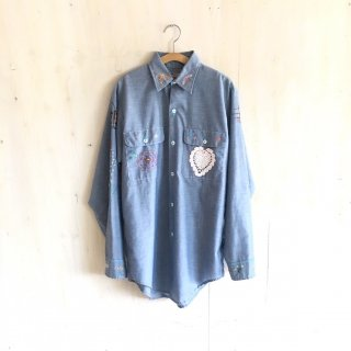 70's 'BIG MAC'  chambray shirt
