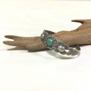 30's Silver Products made   vintage turquoise bangle