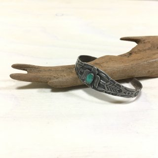 40's Maisel Indian Trading Post Made  Sunderbird Stamped Bangle