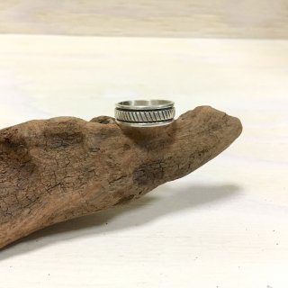 Bruce Morgan Navajo  Stamp worked ring 20号