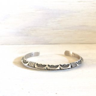 Kevin Ramone  Stamp worked triangle bangle