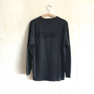 BG flocky back printed long sleeve T-shirt