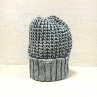 ' c-plus headwear '  CUFF KNIT CAP /  BIG WAFFLE<br>(gray)