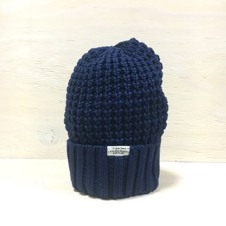 ' c-plus headwear '  CUFF KNIT CAP /  BIG WAFFLE<br>(Navy)