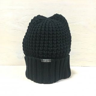 ' c-plus headwear '  CUFF KNIT CAP /  BIG WAFFLE <br/>  (black)