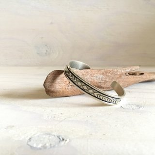 Bruce Morgan  NAVAJO Stamp worked  bangle