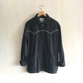 70's ' H Bar C   Ranch Wear '<br>Western Jacket<br>(black)