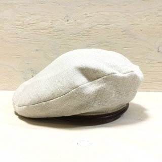 ' c-plus headwear '  FABRIC BERRET/LINEN OX<br>(Black x Beige)