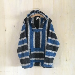 old Mexican parka <br>Blue x Black