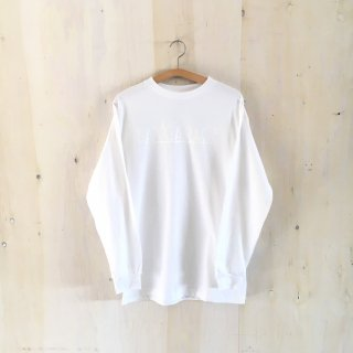 BAY GARAGE  Printed Long Sleeve T-shirt<br>White x White Printed