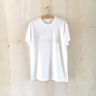 BAY GARAGE Printed T <br>White x White Printed