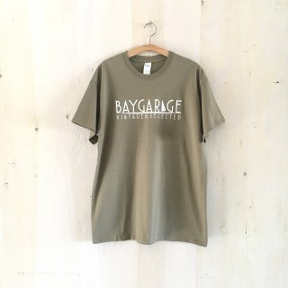 BAY GARAGE Printed T <br> Military Beige x White Printed