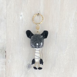 ' Togawa Doll '  Cat Keyring <br>Gray