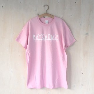 BAY GARAGE Printed T <br> Pink x White Printed