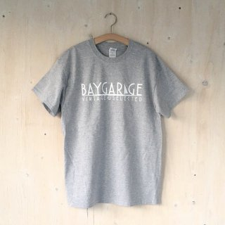 BAY GARAGE Printed T <br>Gray x White Printed