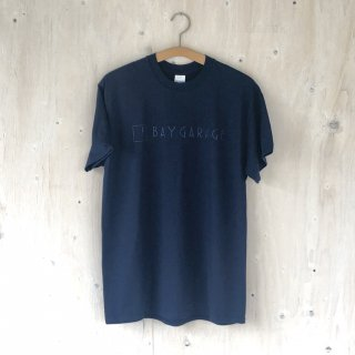 BAY GARAGE Printed T <br>New Logo<br> Navy x Navy Printed