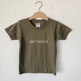 BAY GARAGE Printed T <br>Kids<br>Olive
