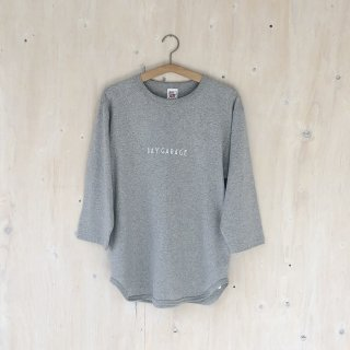 BAY GARAGE <br>3/4 Sleeve Baseball T <br>Heather Gray