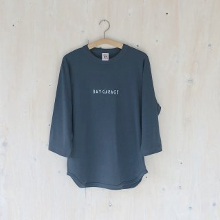 BAY GARAGE <br>3/4 Sleeve Baseball T <br>Denim