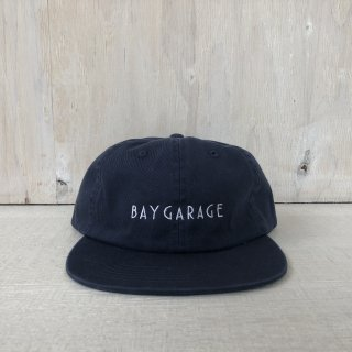 BAY GARAGE Six Panel Cap<br> Washed Twill <br>  Navy