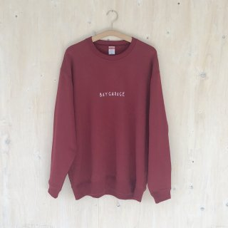 BAY GARAGE <br>Crewneck Sweat  <br>Burgundy